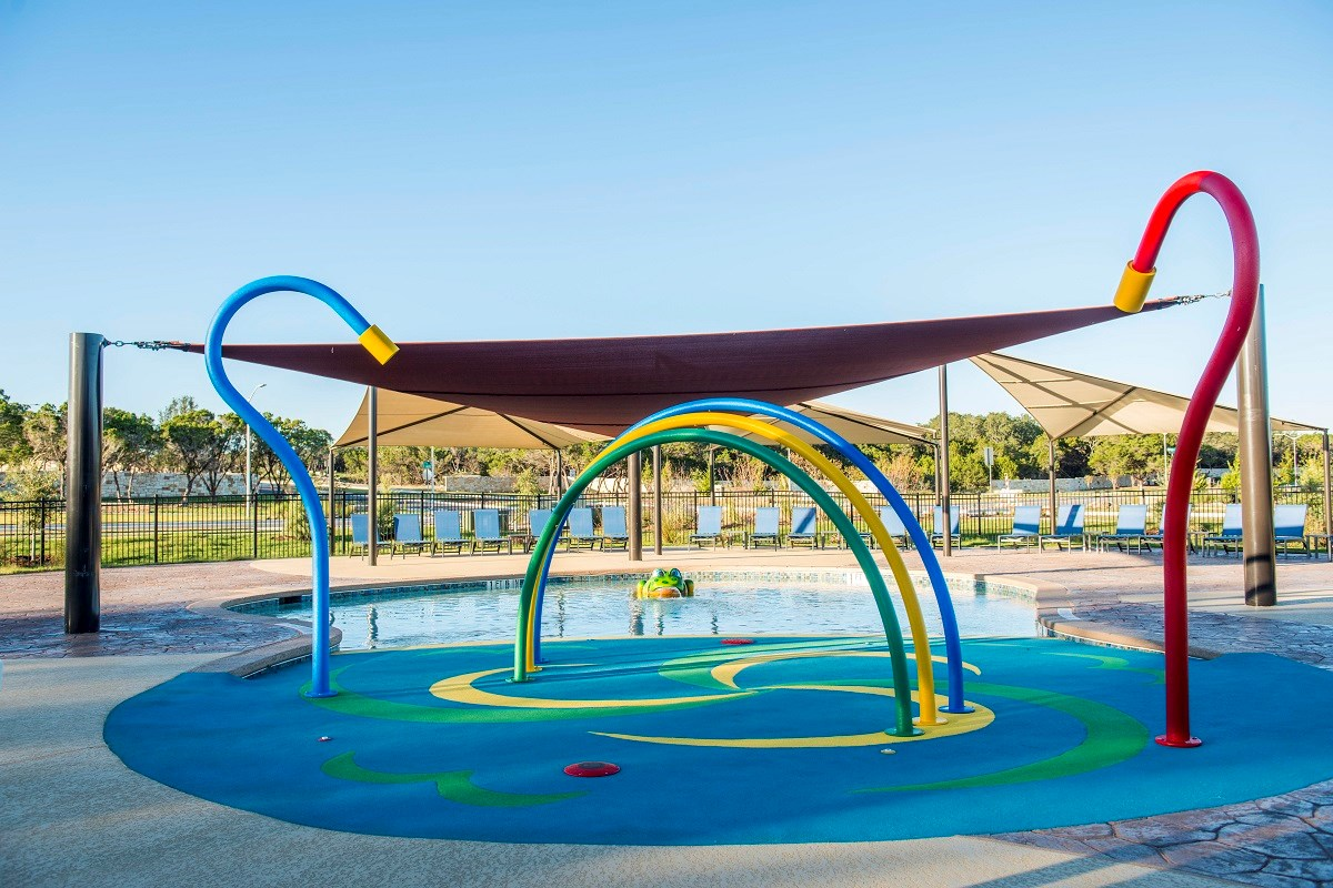 New Homes in Leander, TX - Mason Hills - The Lakes Hallmark Collection Mason Hills Childrens' Pool and Splash Pad
