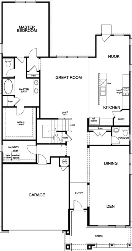New Homes in Leander, TX - Plan A-3023, First Floor
