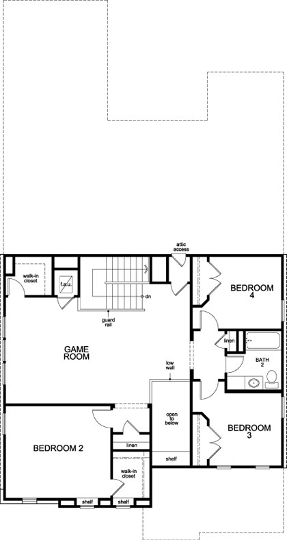 New Homes in Leander, TX - Plan A-3023, Second Floor