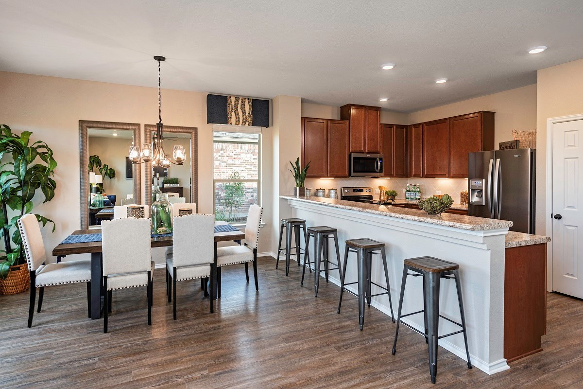 New Homes in Lockhart, TX - Meadows at Clearfork Plan A-1675 Kitchen