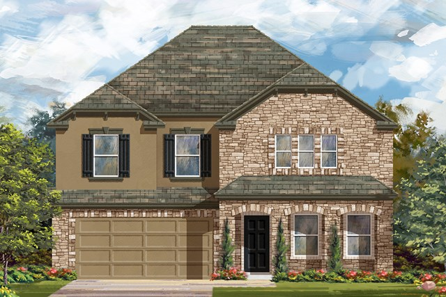 New Homes in Lockhart, TX - Plan A-2881 D