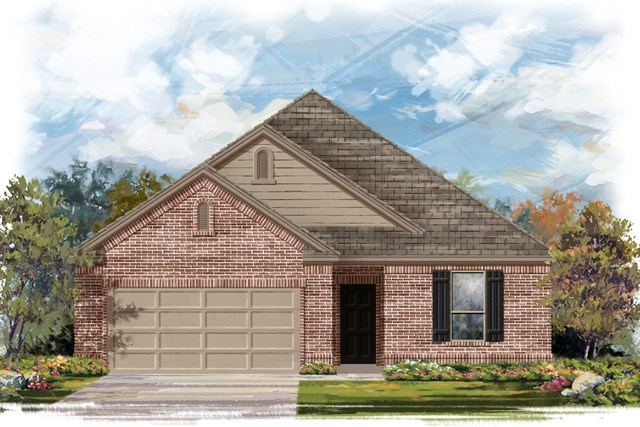 New Homes in Lockhart, TX - Plan A-1675 B