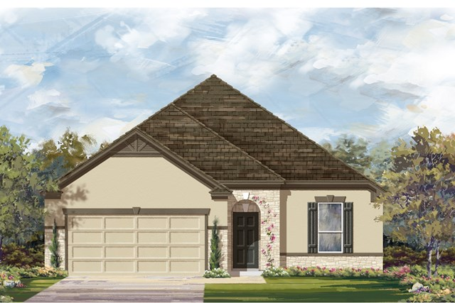 New Homes in Lockhart, TX - Plan A-1675 D