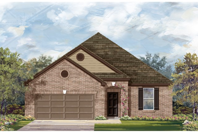 New Homes in Lockhart, TX - Plan A-1965 B