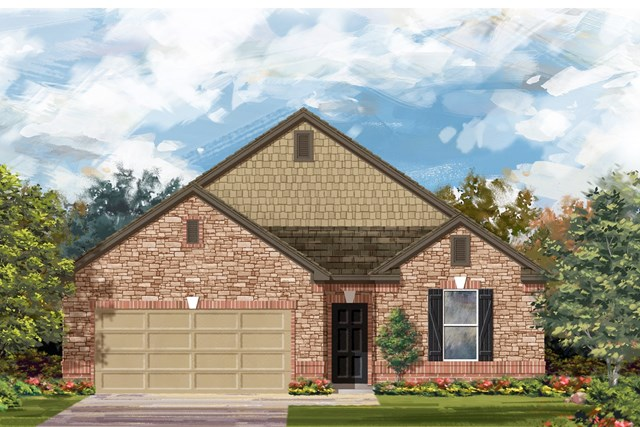 New Homes in Lockhart, TX - Plan A-1965 C