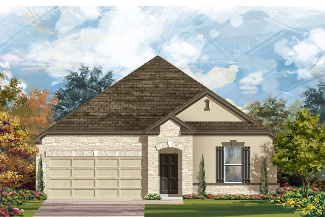 New Homes in Lockhart, TX - Plan A-2382 D