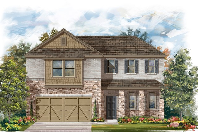 New Homes in Lockhart, TX - Plan A-2502 C