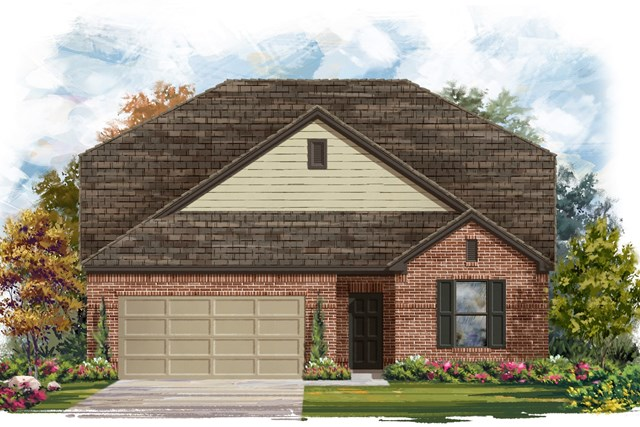 New Homes in Lockhart, TX - Plan A-2655 A