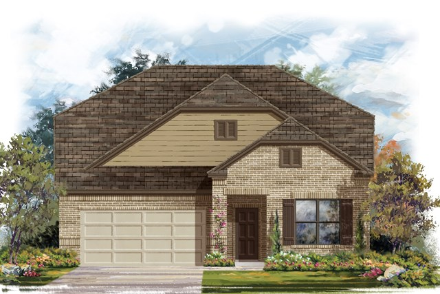New Homes in Lockhart, TX - Plan A-2655 B