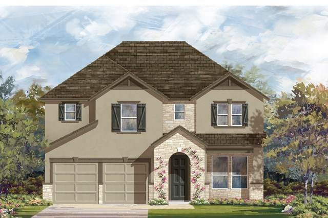 New Homes in Lockhart, TX - Plan A-2755 D