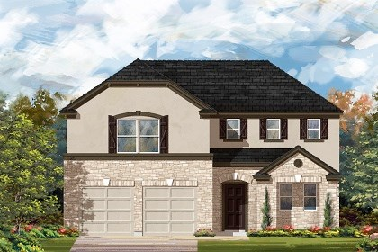 New Homes in Liberty Hill, TX - Plan A-2502 D