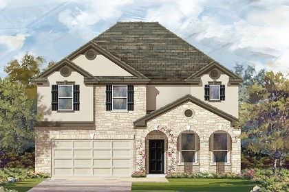 New Homes in Liberty Hill, TX - Plan A-3125 D