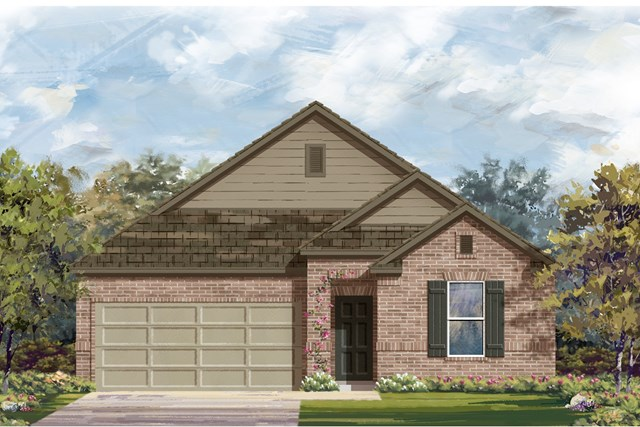 New Homes in Georgetown, TX - Plan A-1491 B