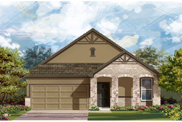 New Homes in Georgetown, TX - Plan A-1491 D