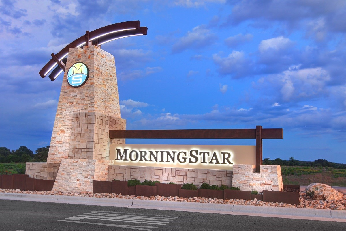 New Homes in Georgetown, TX - MorningStar Community Entrance