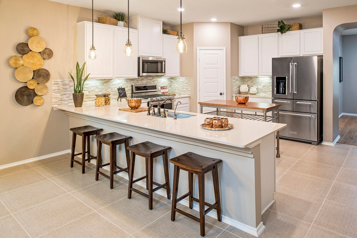 New Homes in Liberty Hill, TX - MorningStar Plan A-2089 Kitchen