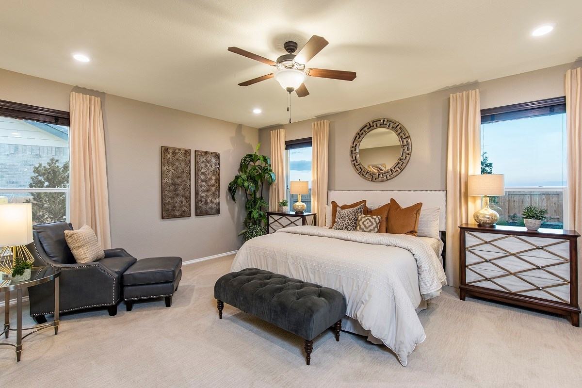 New Homes in Liberty Hill, TX - MorningStar Plan A-2089 Master Bedroom