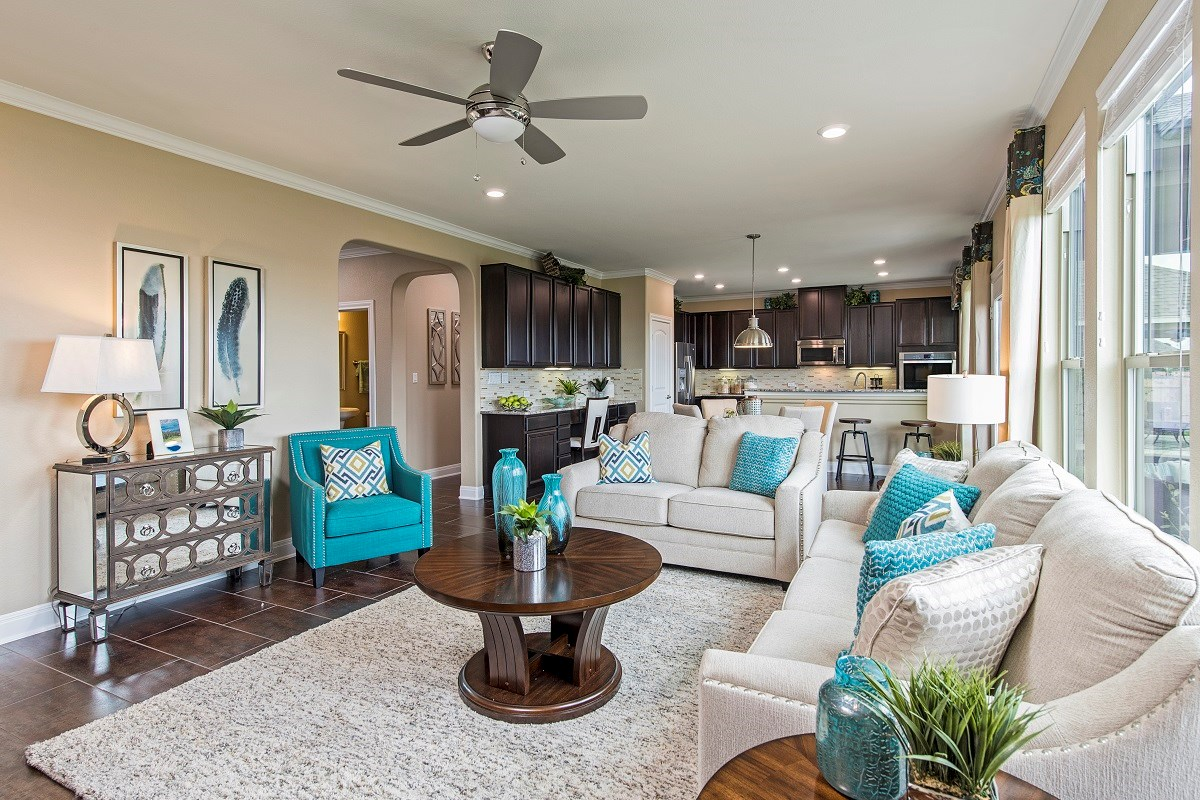 New Homes in Liberty Hill, TX - MorningStar Plan A-2797 Great Room