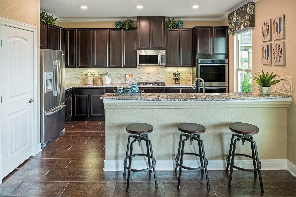 New Homes in Georgetown, TX - MorningStar Plan A-2797 Kitchen