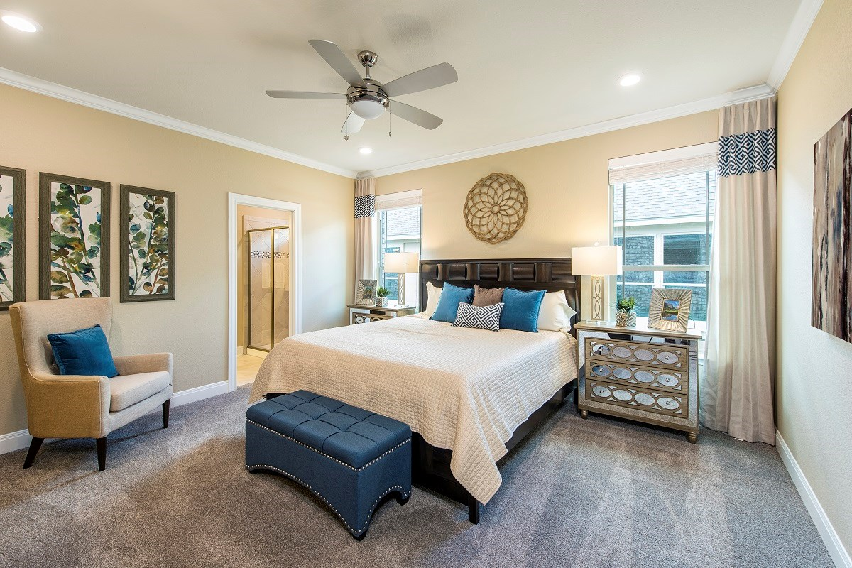New Homes in Liberty Hill, TX - MorningStar Plan A-2797 Master Bedroom
