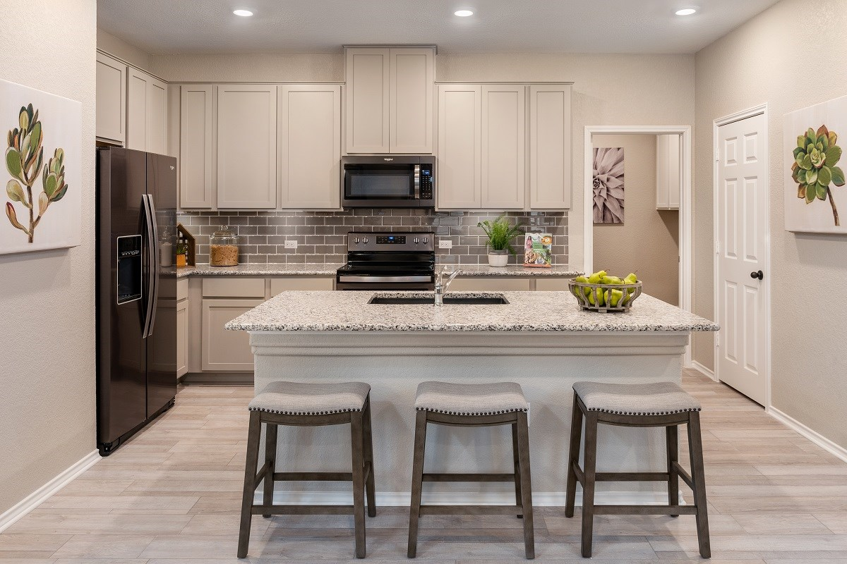New Homes in Austin, TX - Northridge Park Plan 1491 Kitchen