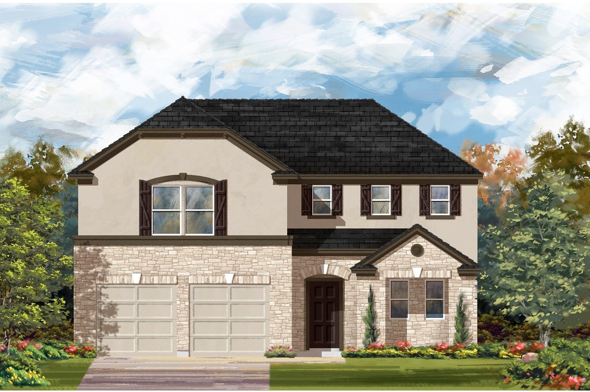 New Homes in Austin, TX - Northridge Park Plan A-2502 D