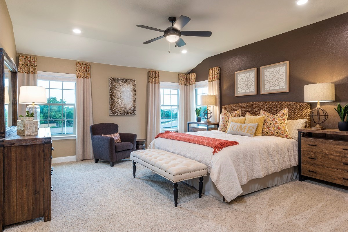 New Homes in Austin, TX - Northridge Park Plan F-2411 Master Bedroom