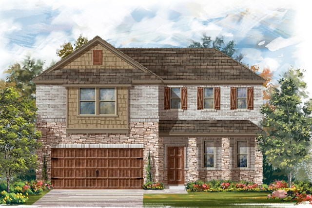 New Homes in Bastrop, TX - Plan A-2502 C