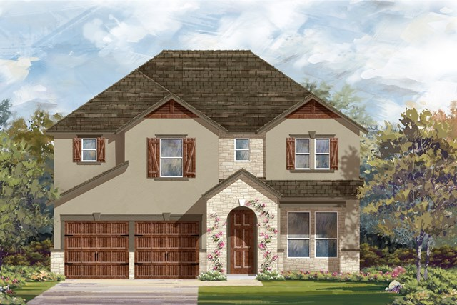 New Homes in Bastrop, TX - Plan A-2755 D