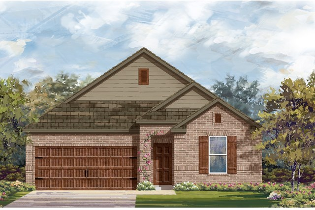 New Homes in Bastrop, TX - Plan A-1491 B
