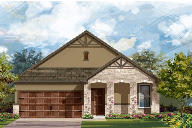 New Homes in Bastrop, TX - Plan A-1491 D