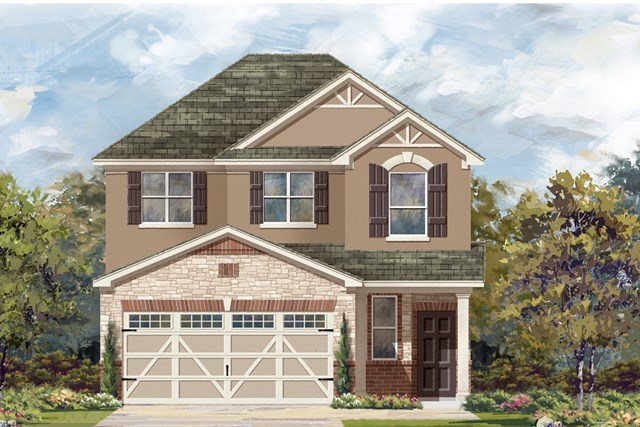 New Homes in Round Rock, TX - Plan F-1601 K