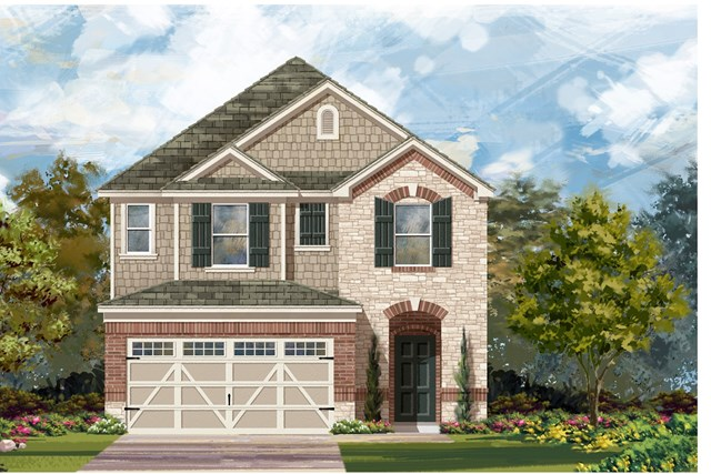 New Homes in Round Rock, TX - Plan F-2038 K