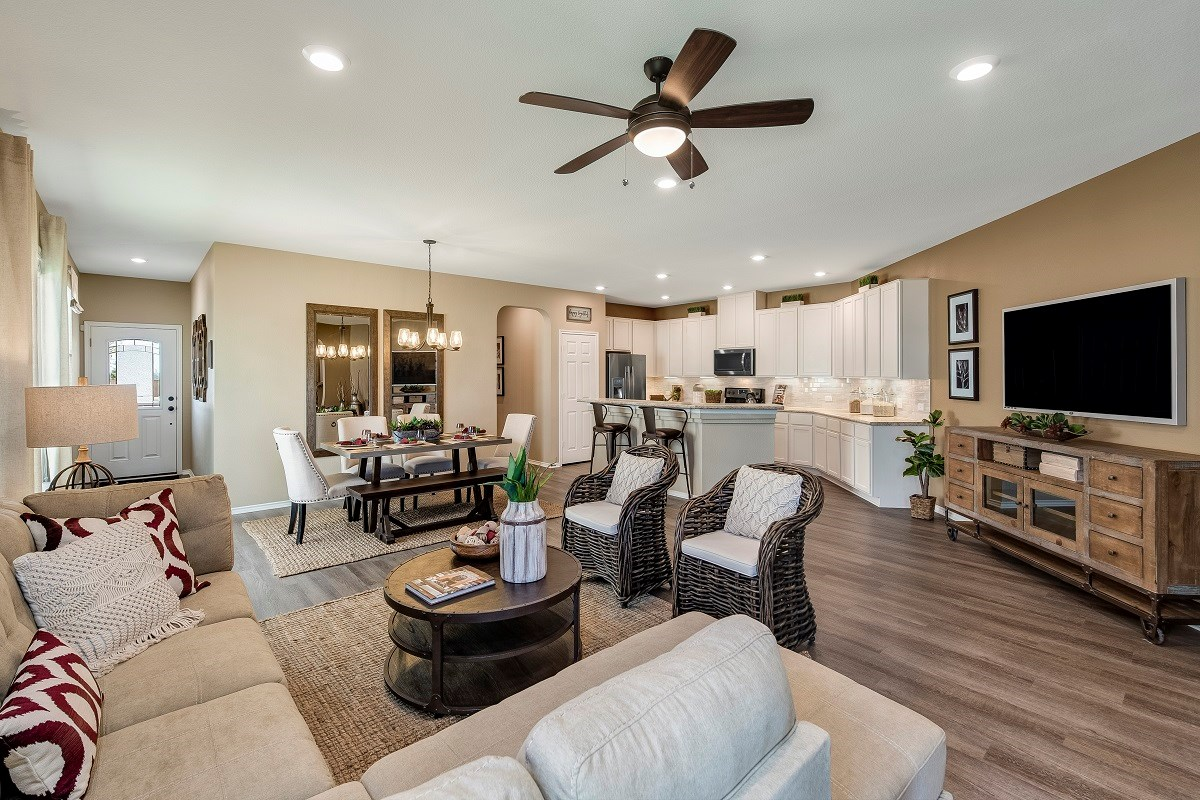 New Homes in Round Rock, TX - Pioneer Point Plan F-1585 Great Room