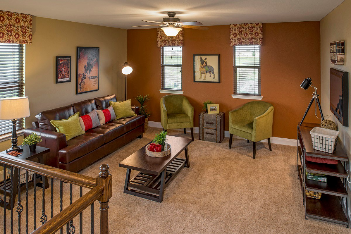 New Homes in Del Valle, TX - The Trails at Stoney Ridge Plan E-2403 Game Room