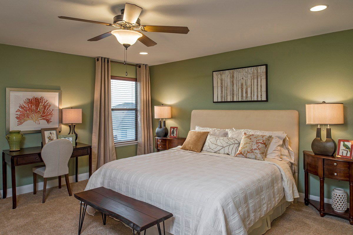New Homes in Del Valle, TX - The Trails at Stoney Ridge Plan E-2403 Master Bedroom