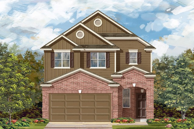 New Homes in Manor, TX - Plan F-1601 F
