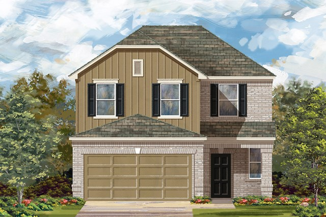 New Homes in Manor, TX - Plan F-2239 F