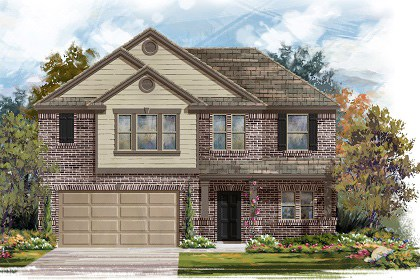 New Homes in Manor, TX - Plan A-2183 B