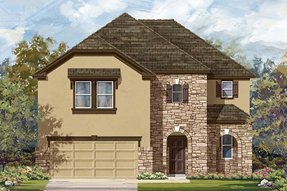 New Homes in Manor, TX - Plan A-2183 D