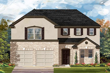 New Homes in Manor, TX - Plan A-2502 D