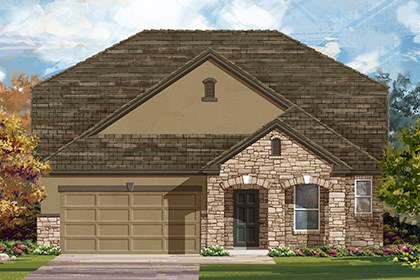 New Homes in Manor, TX - Plan A-2655 D