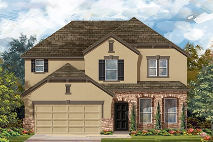 New Homes in Manor, TX - Plan A-2797 D