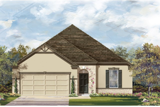 New Homes in Manor, TX - Plan A-1675 D