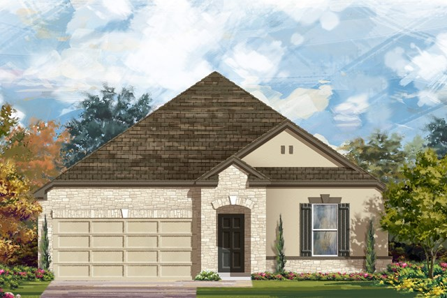 New Homes in Manor, TX - Plan A-2382 D