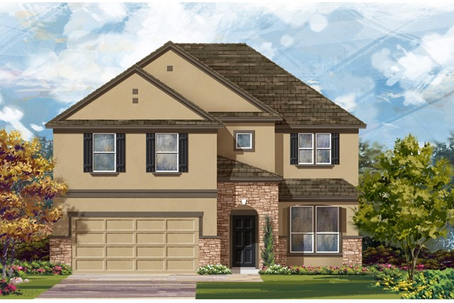 New Homes in Manor, TX - Plan A-2469 D