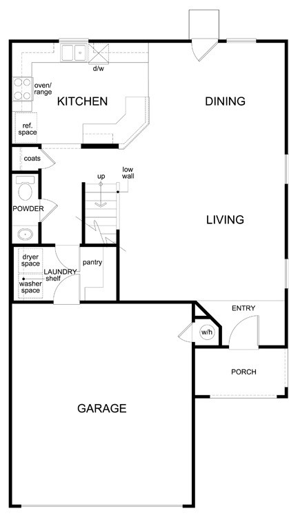 New Homes in Manor, TX - Plan F-1909, First Floor