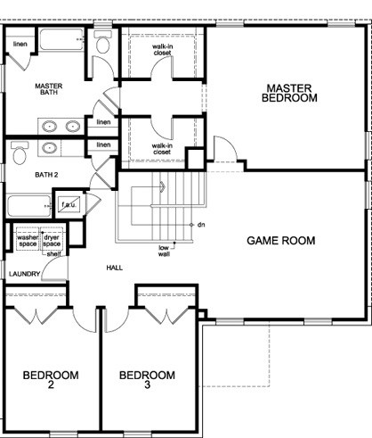 New Homes in Manor, TX - Plan A-2469, Second Floor