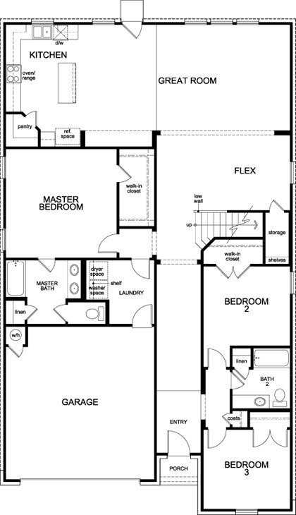 New Homes in Manor, TX - Plan A-2655, First Floor