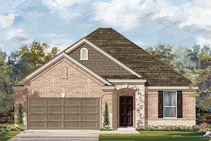 New Homes in Taylor, TX - Plan A-1792 C